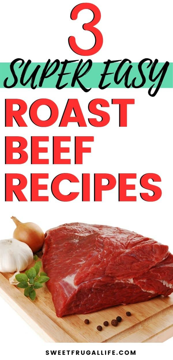 Easy roast beef in the slow cooker