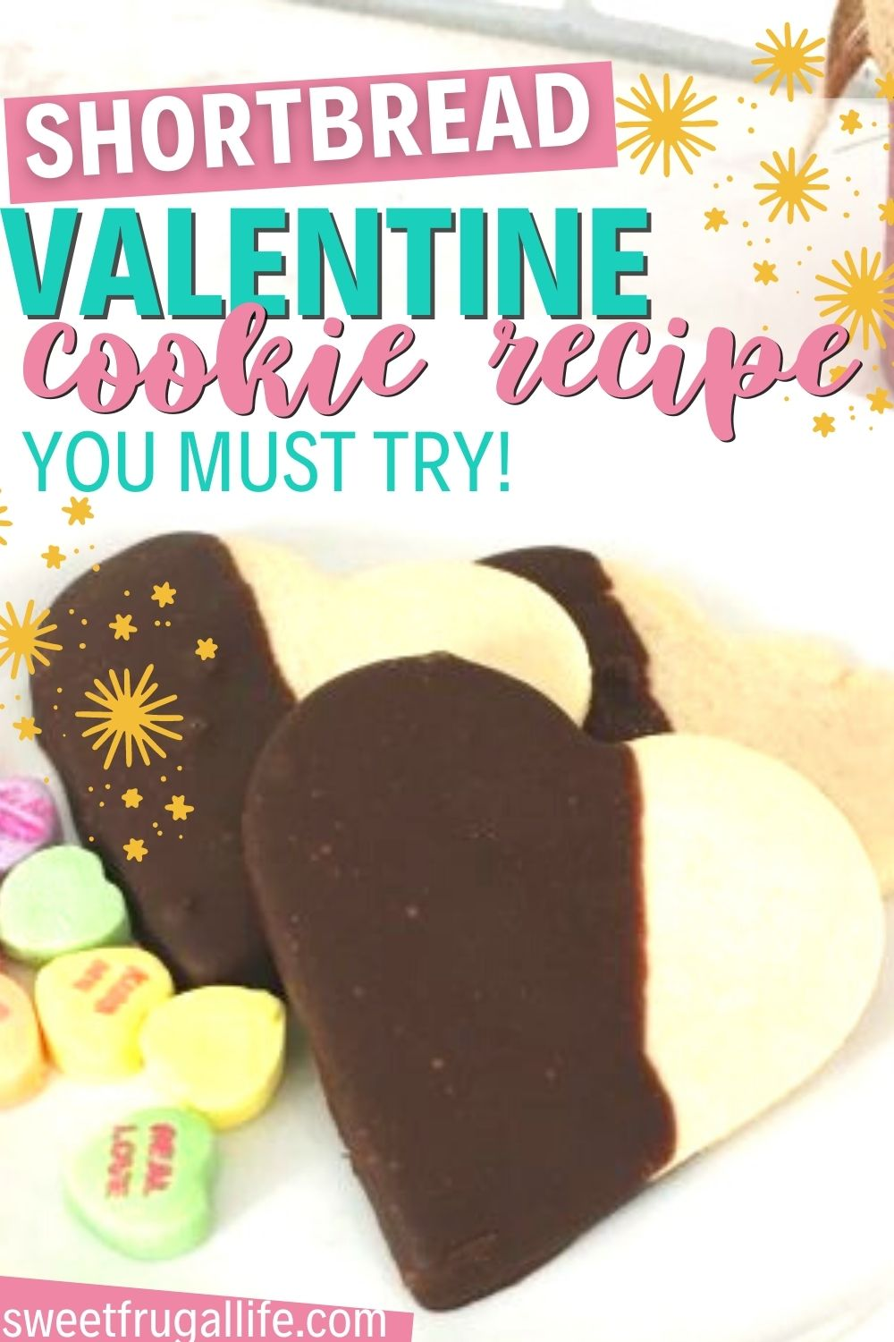 easy valentine cookie recipe - chocolate dipped cookies for valentines day