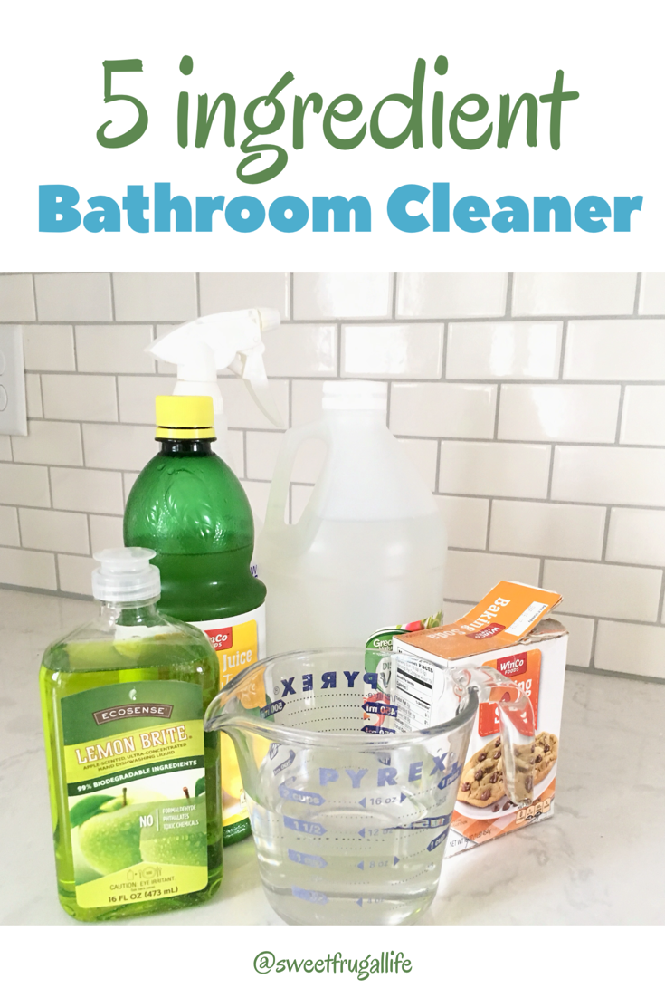 Homemade Bathroom Cleaner - Sweet Frugal Life