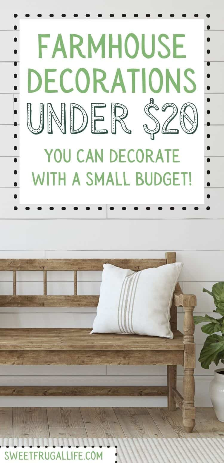 cheap farmhouse decorations - decorating on a budget