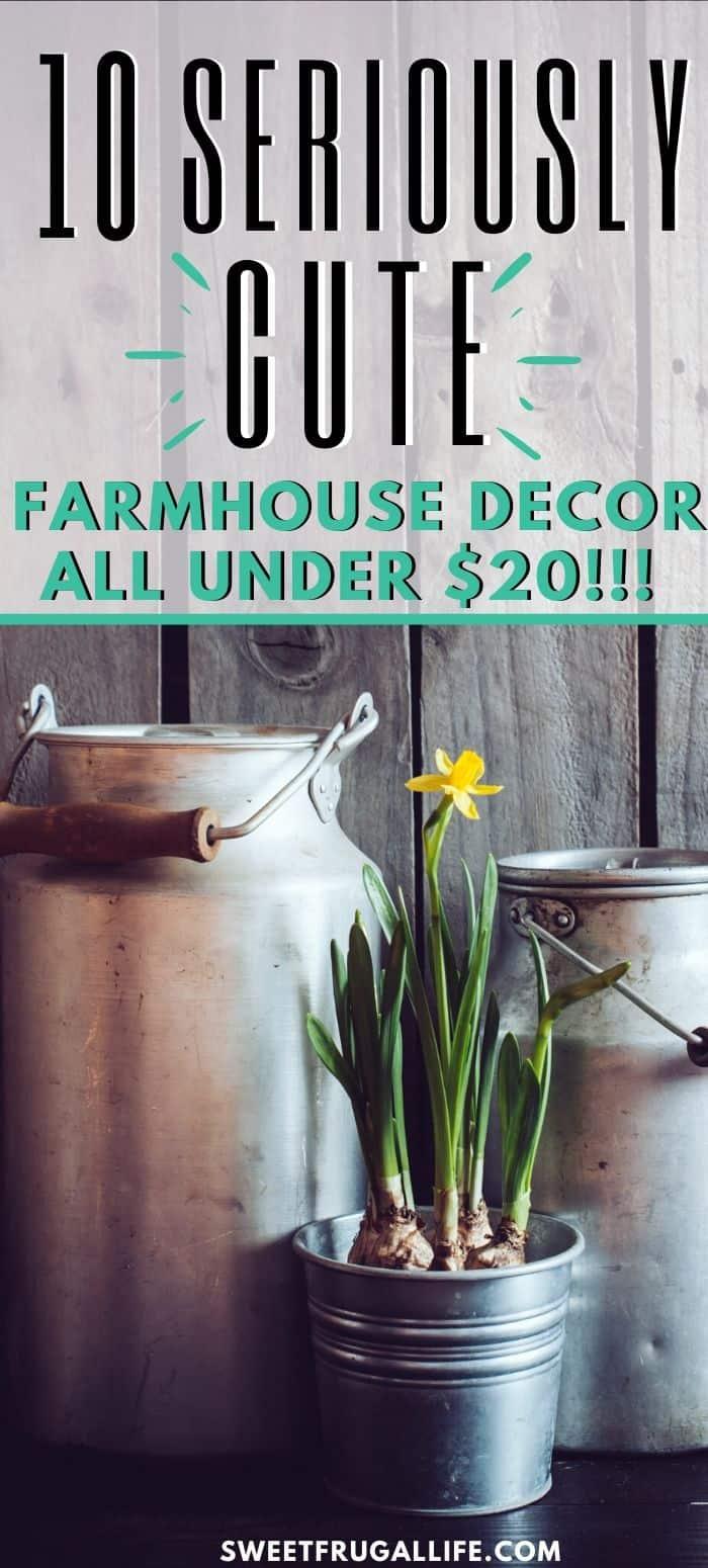 cheap farmhouse decorations