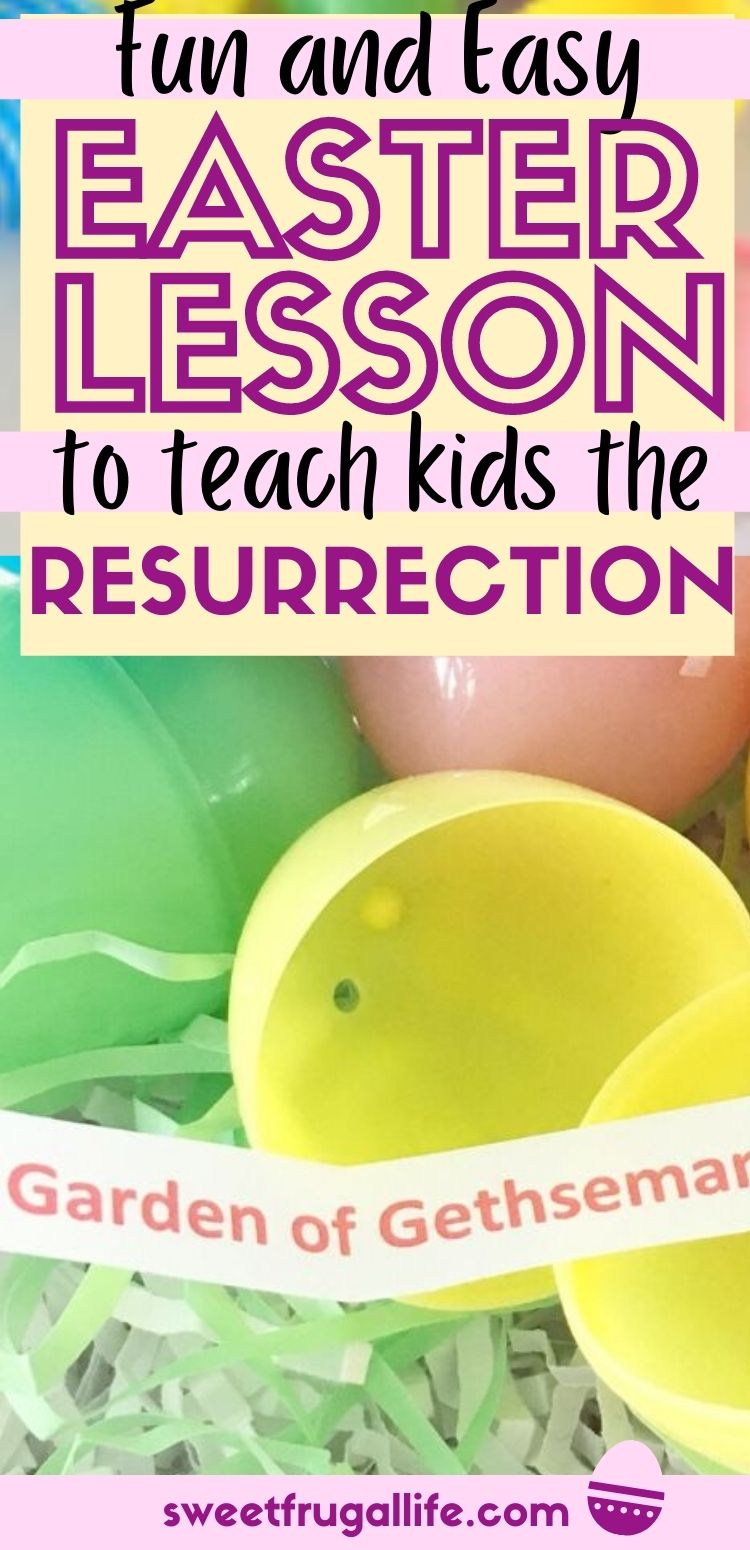 easter lesson for kids - teaching kids about the resurrection