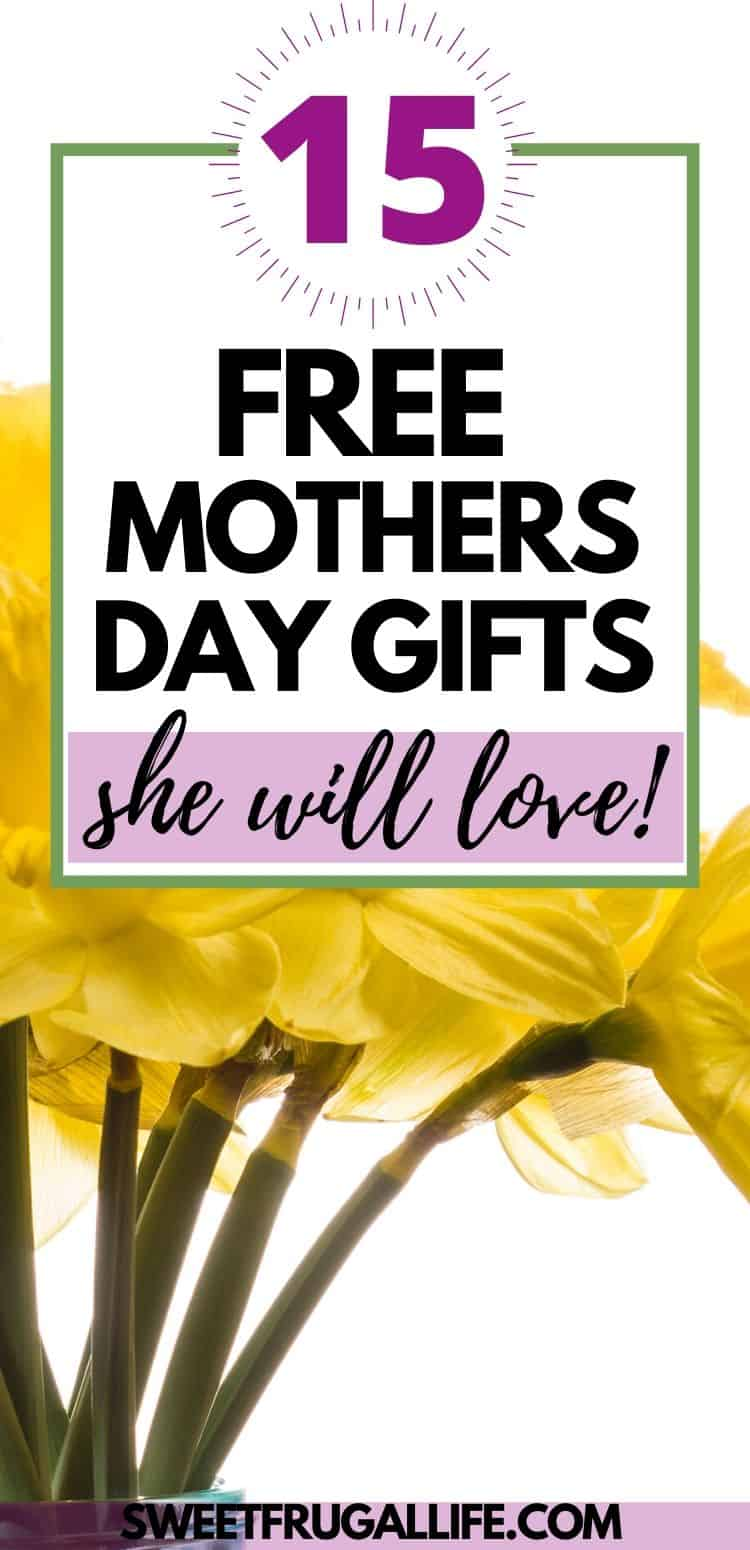 Mothers Day Gift Ideas that don't cost any money
