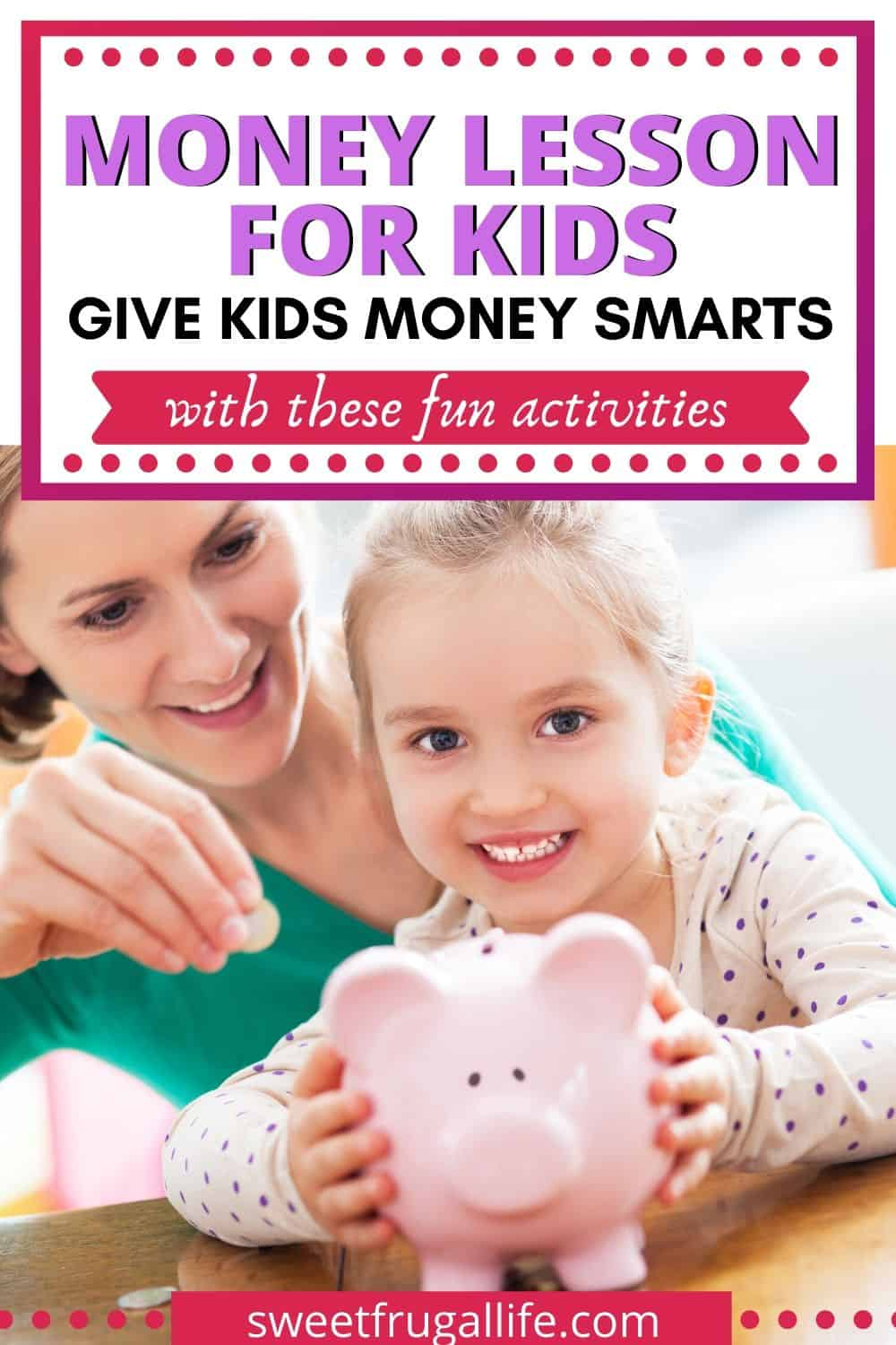 activities to teach kids about money