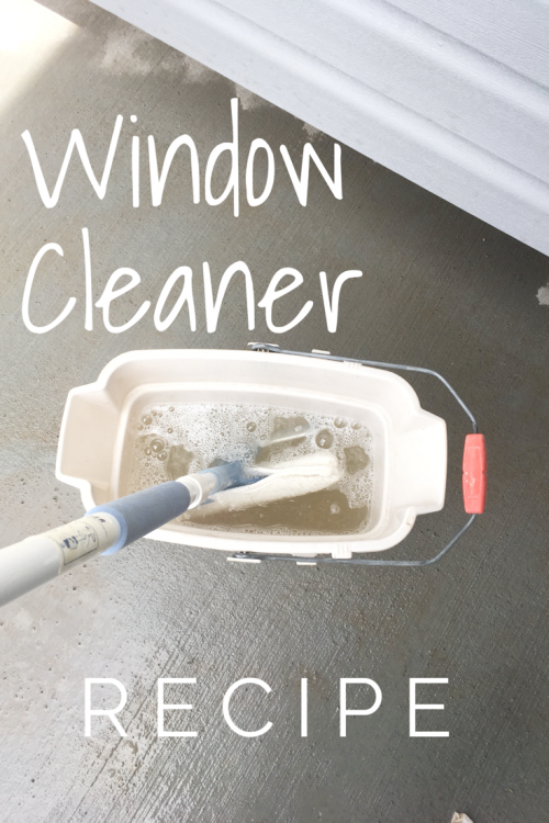 Easy Outdoor Window Cleaner Recipe