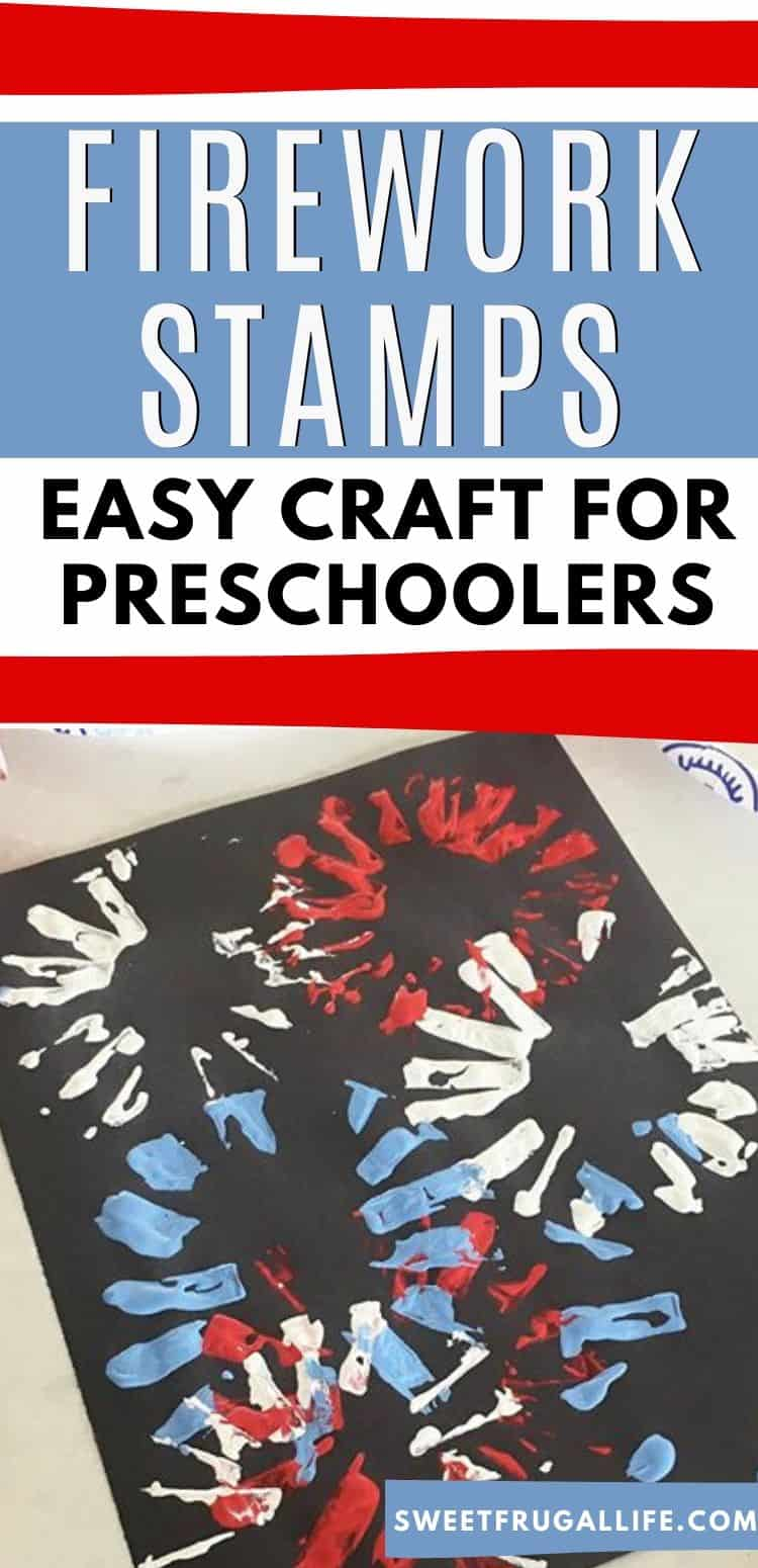 Firework Stamping - Easy craft for preschoolers