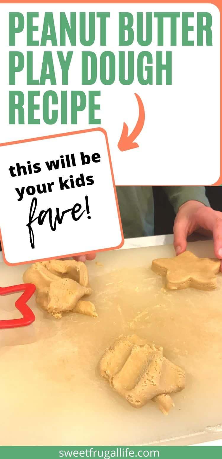 how to make peanut butter play dough - fun play dough recipe