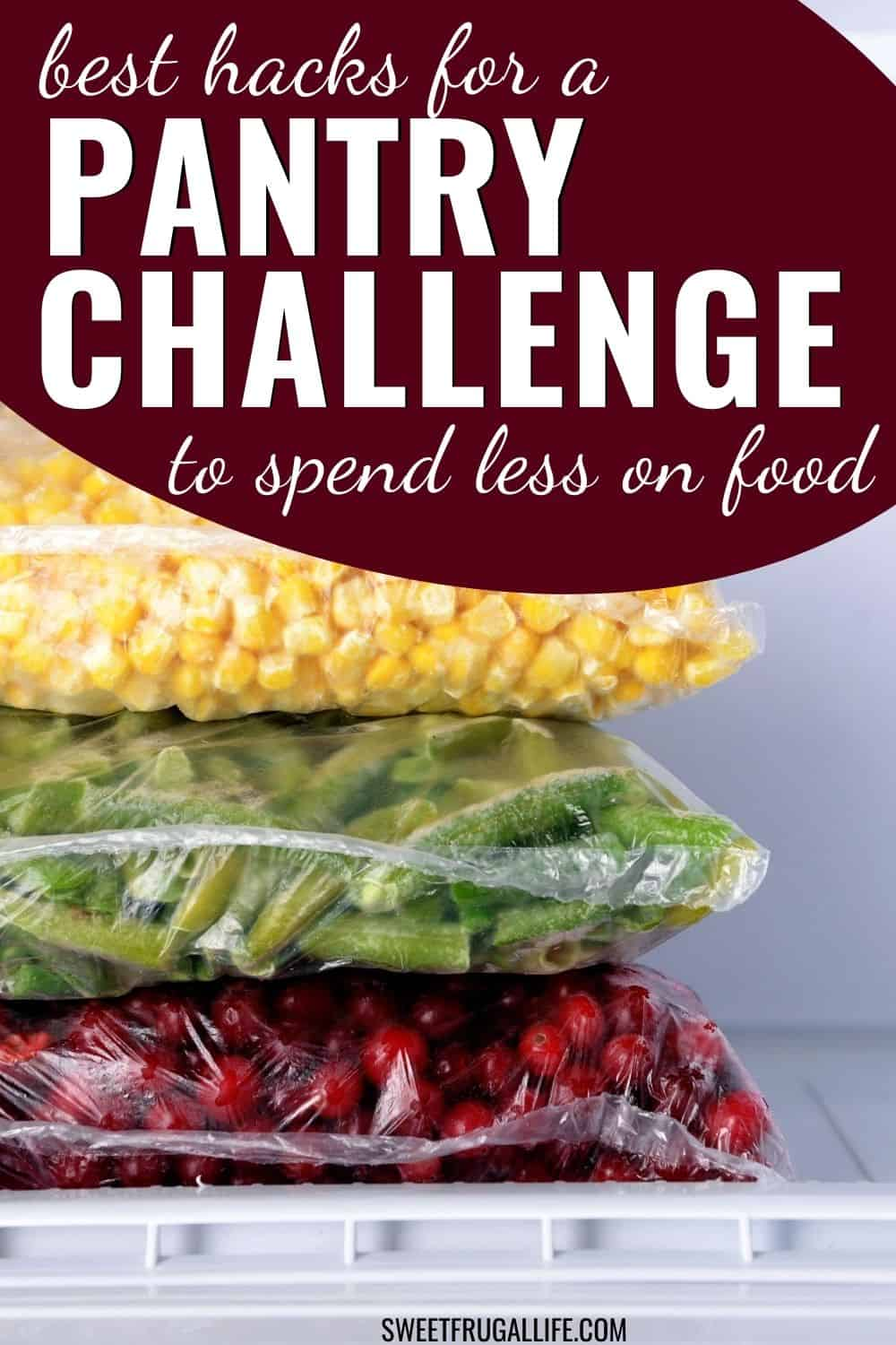 tips for a pantry challenge - save money on food