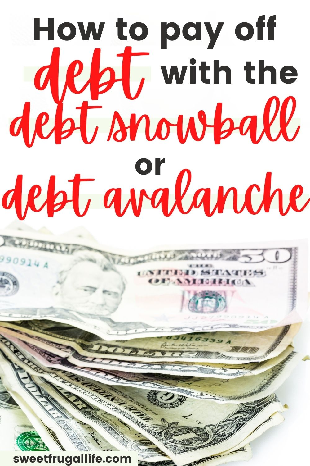 pay off debt with debt snowball or debt avalanche