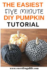 5 minute DIY pumpkin