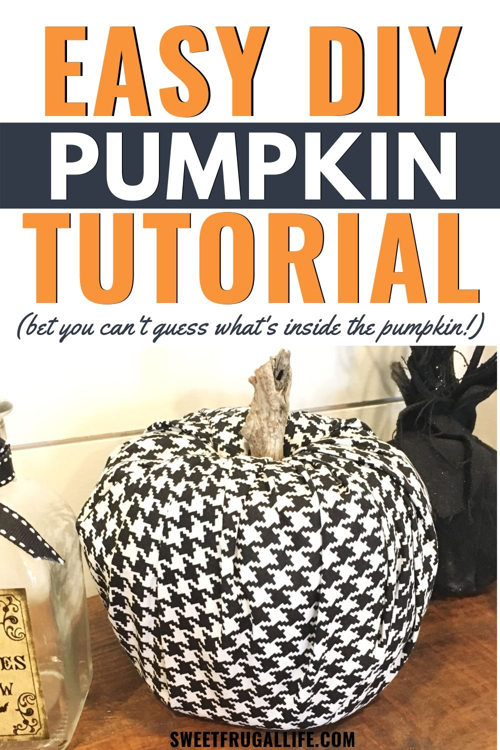 toilet paper pumpkin tutorial - easy fall craft idea