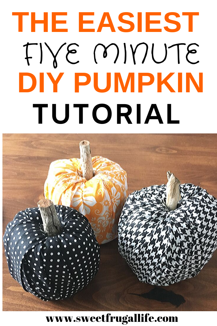 5 minute DIY pumpkin