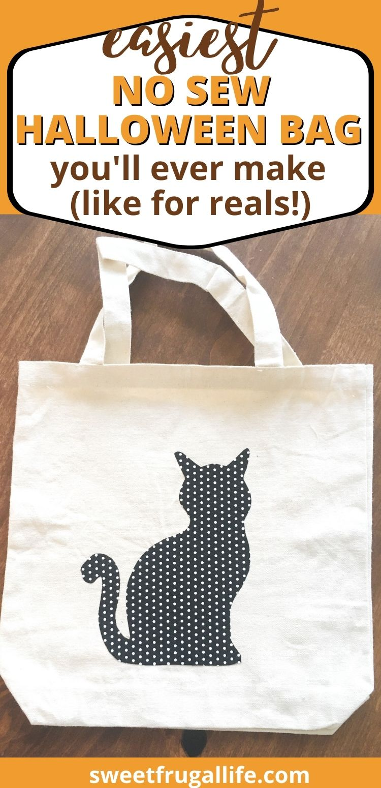 easy no sew halloween bag tutorial - how to make a trick or treat bag