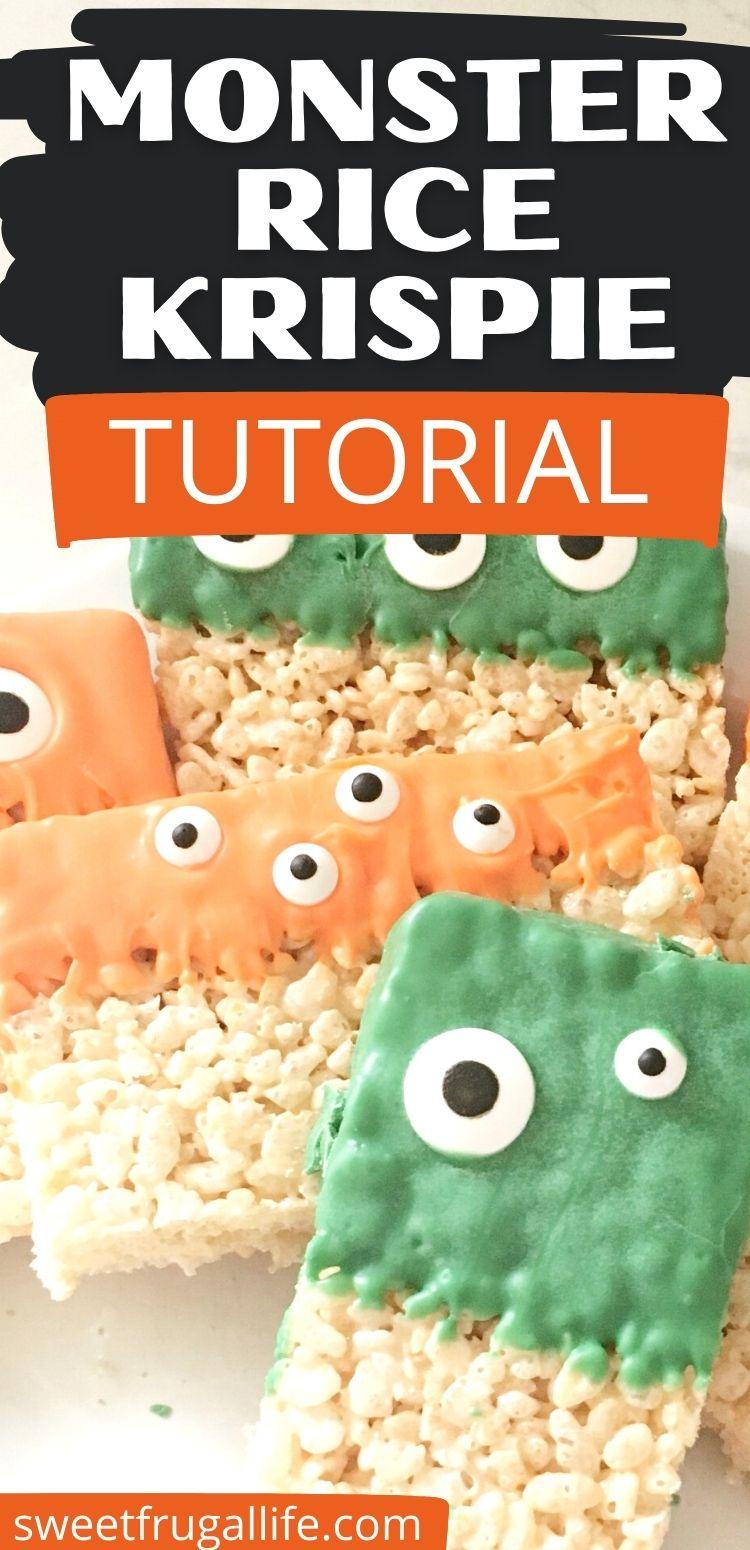 how to make monster rice krispies - easy halloween treat