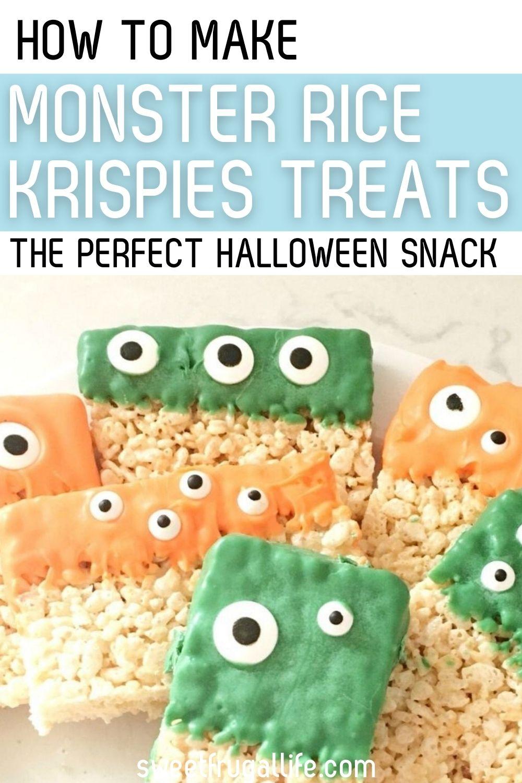 monster rice krispies - halloween party food