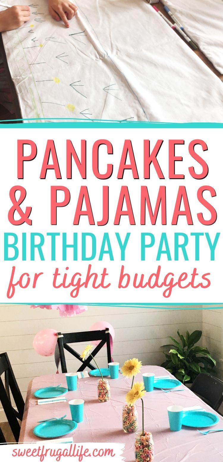 pancakes pajamas birthday party ideas - tween birthday party ideas