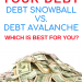 Pay off your debt using the debt snowball or the debt avalanche