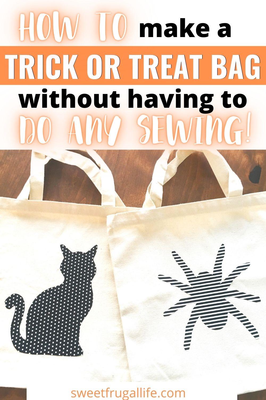 easy trick or treat bag tutorial - halloween bag tutorial