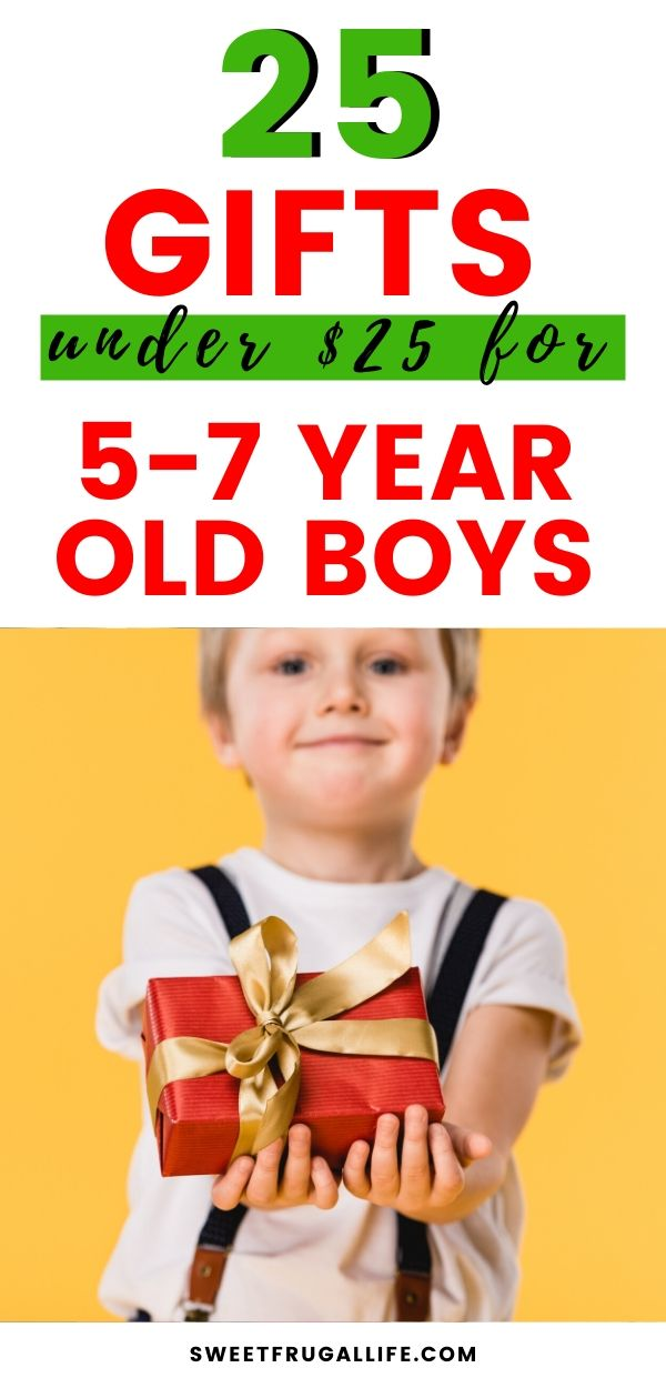 Gift ideas for 5-7 year old boys