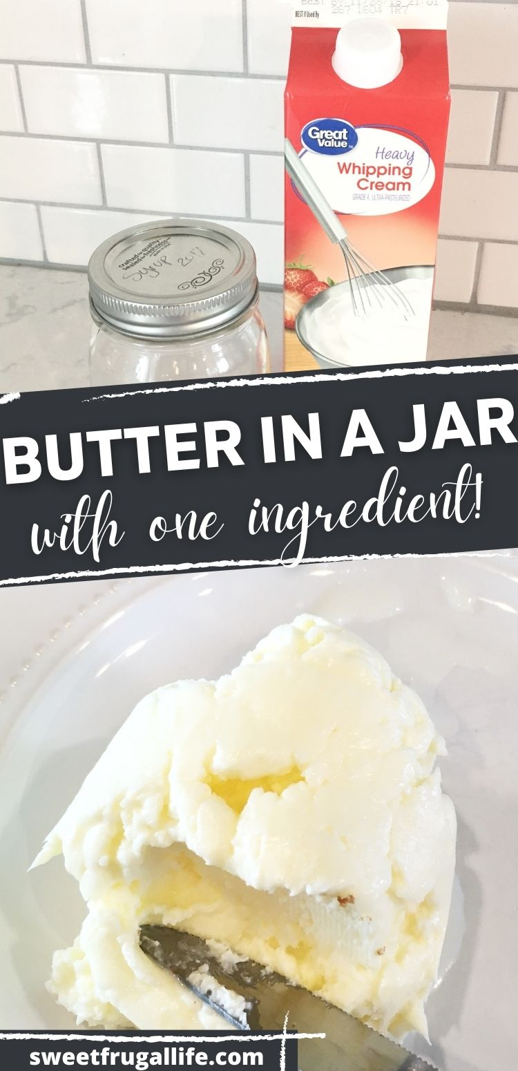 how to make butter with the kids - easy butter in a jar tutorial