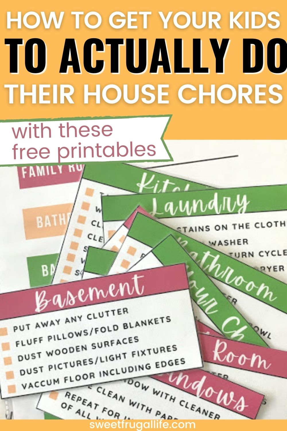 how to get kids to do their chores - free chore chart printable for families