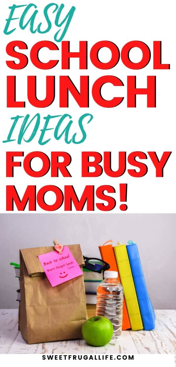 easy school lunch ideas for kids