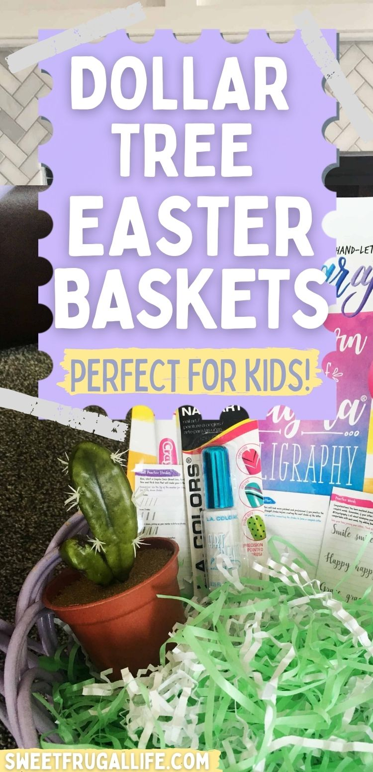 dollar tree easter baskets- what to put in kids easter baskets that doesn't cost a lot of money