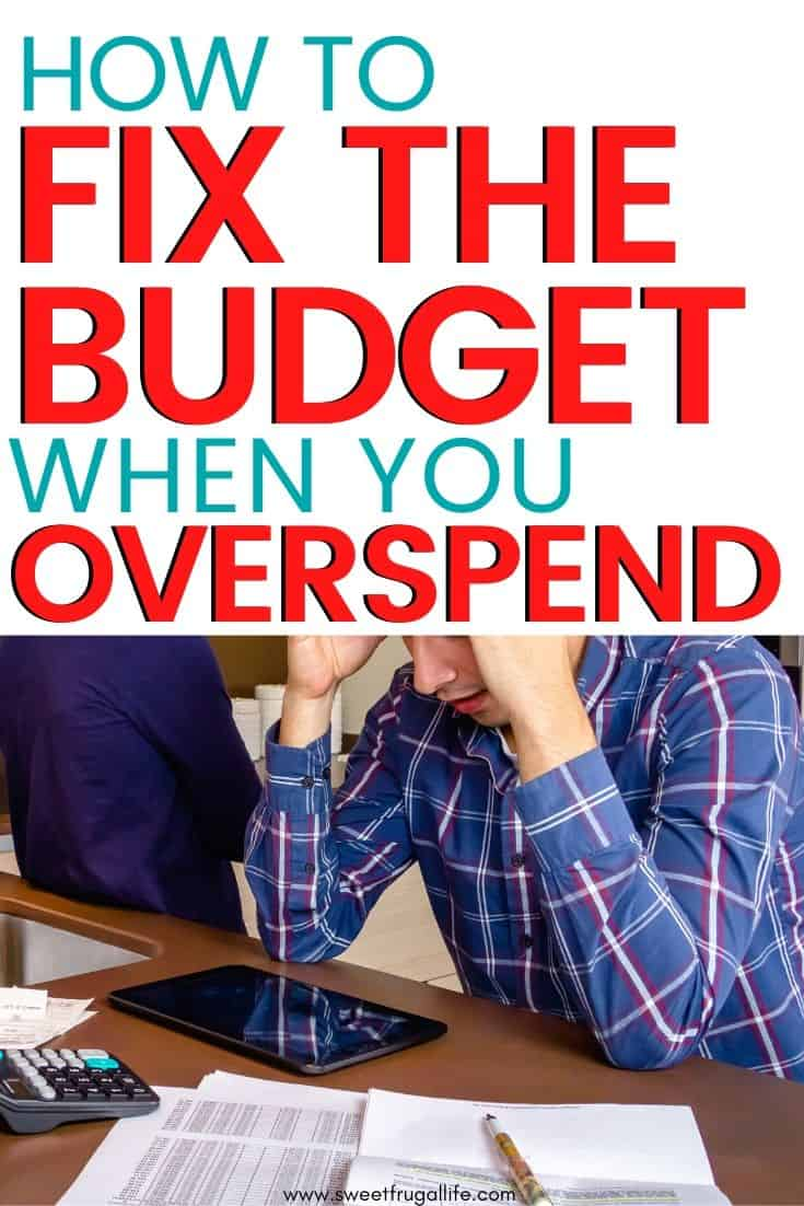 how to fix budget when there's a problem