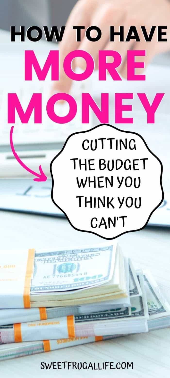 how to find more money in the budget