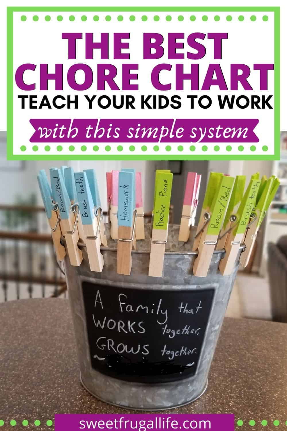 simple chore chart system
