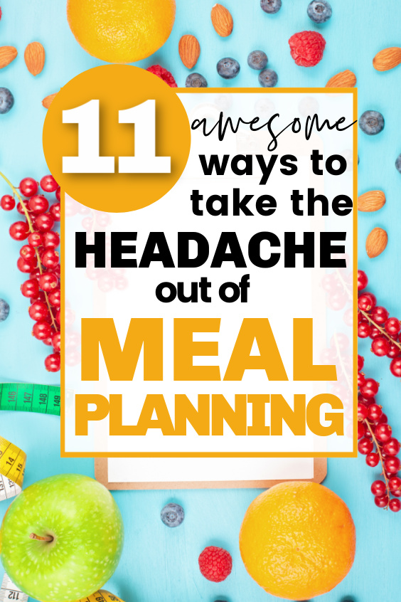 how to make meal planning easier - how to start making a meal plan