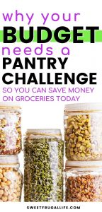 Your budget needs a pantry challenge so that you can save money on groceries today #savingmoney #savemoneyongroceries #frugalliving #frugaltips moneysaver | spend less money | frugal recipes | food ideas