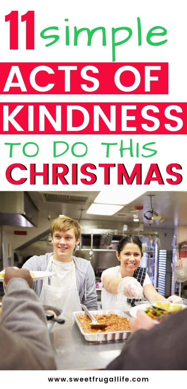 Christmas Acts of Kindness Frugal Giving