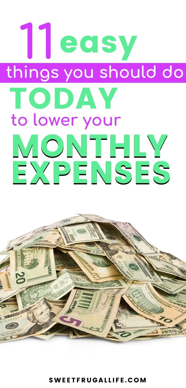 Do these 11 things today and lower your monthly expenses. budget tips | saving money | frugal living | monthly budget | how can i cut costs from my budget #frugalliving #frugaltips #budgettips