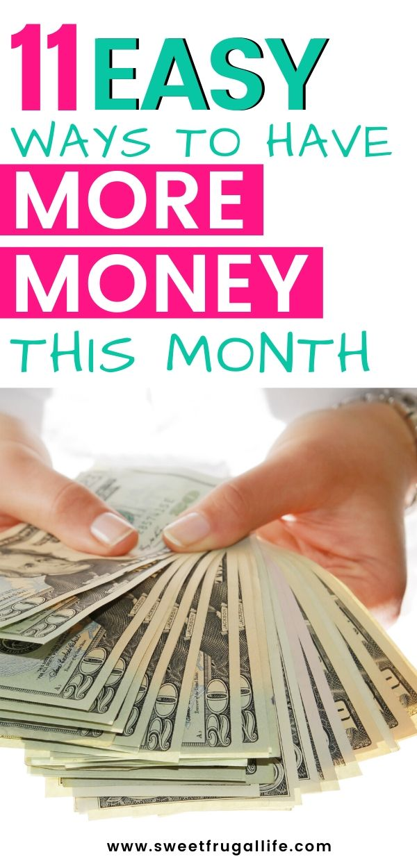 How to have more money this month. Make these easy changes to your budget to find extra cash. frugal living | frugal living tips | budget helps | budget tips | how to get out of debt | find extra cash in budget #budgeting #budgettips #frugalliving