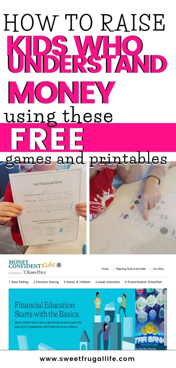 free games and printables to teach kids about money