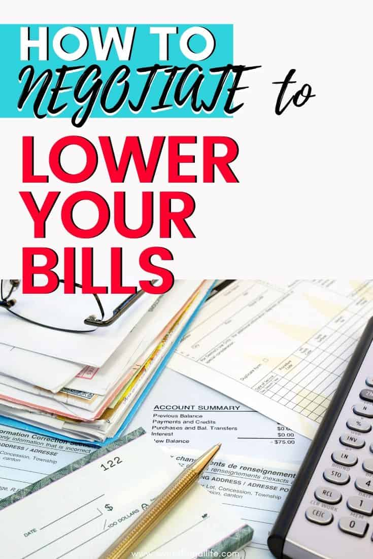 negotiate for lower bills - save money on bills