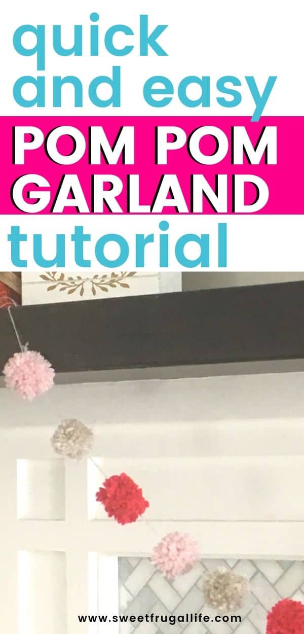 DIY pom pom garland tutorial