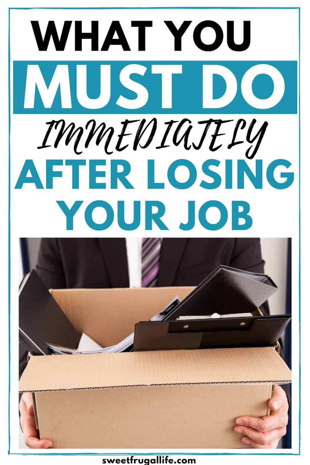 what to do after losing a job