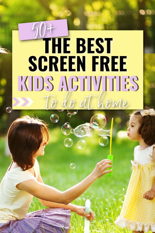 screen free kids activities- fun kids activities to do at home