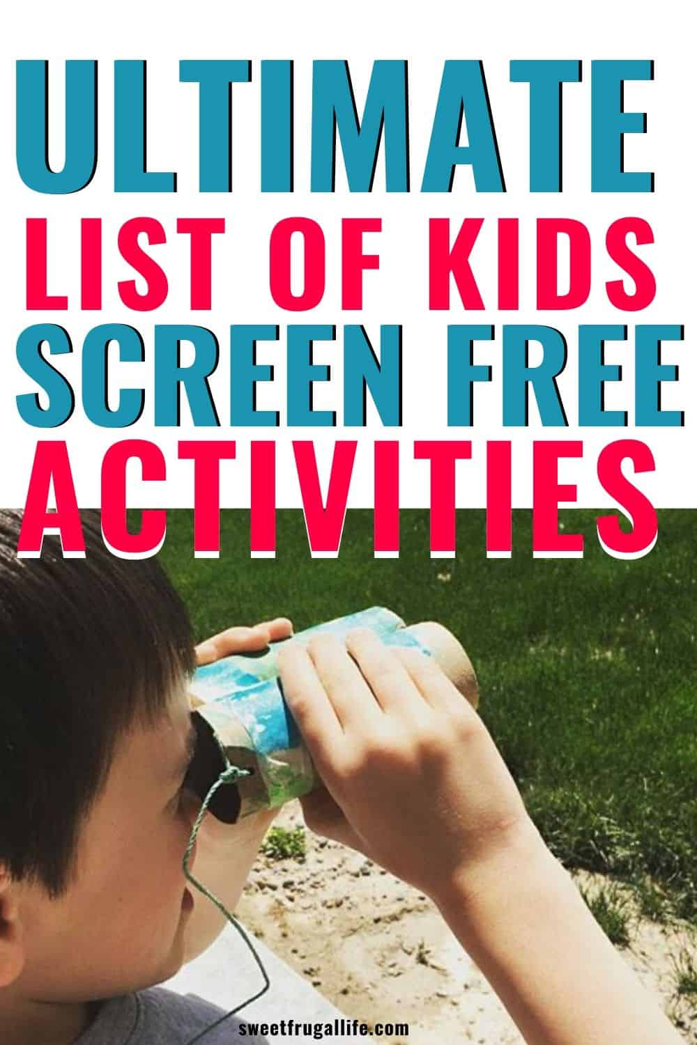screen free activity ideas