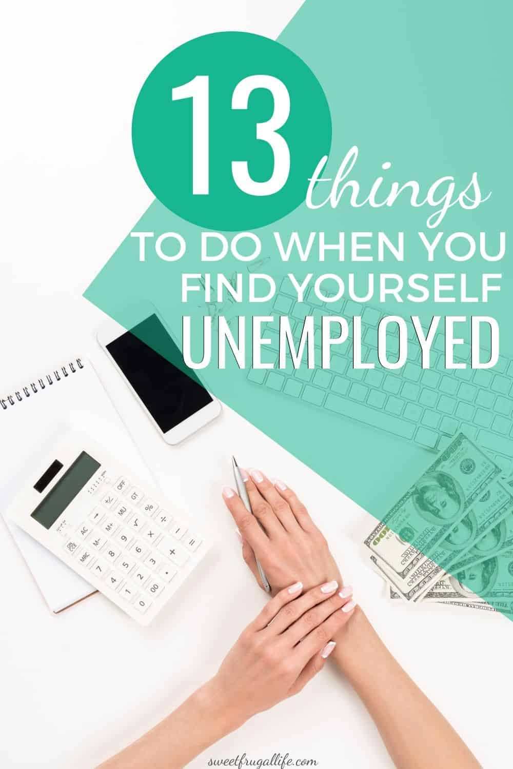 what you should do if you are unemployed