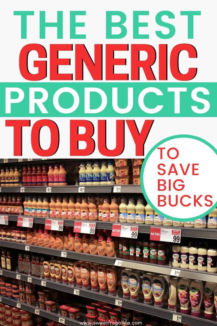 generic products to save money