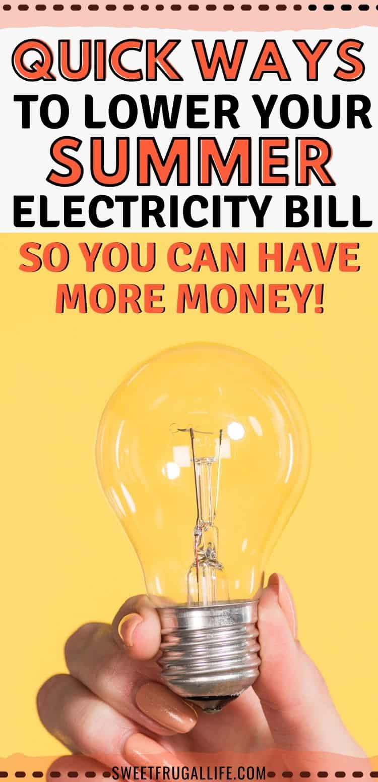 lower summer electricity bill
