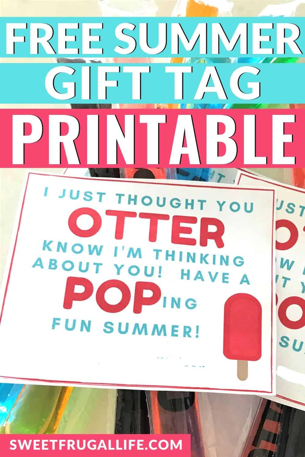 fun summer gift idea printable otter pops