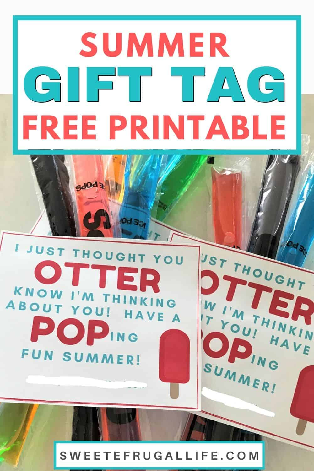 summer gift tag printable