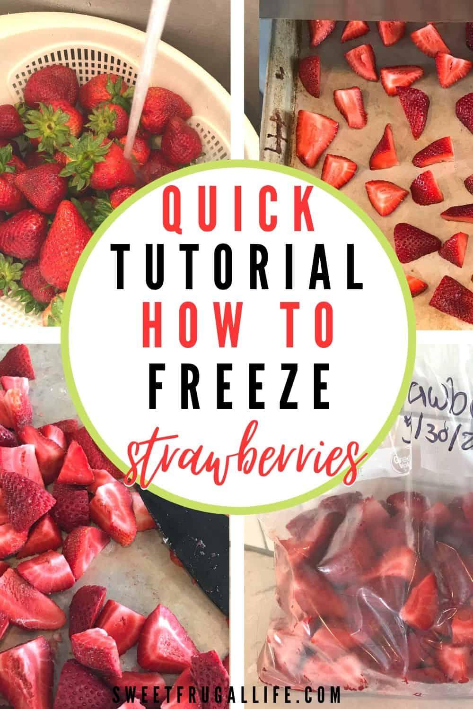 tutorial for freezing strawberries