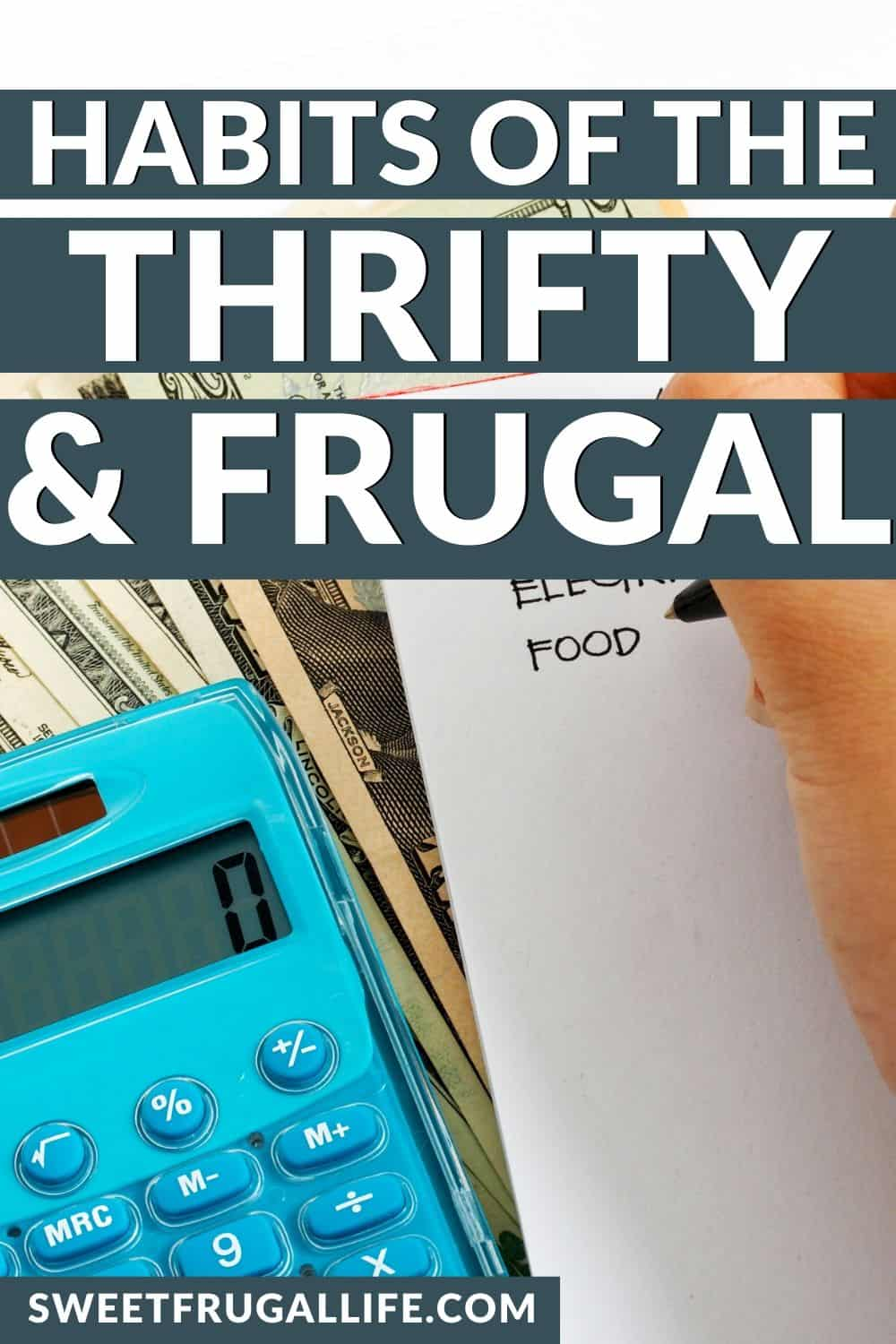 frugal habits - how to be thrifty