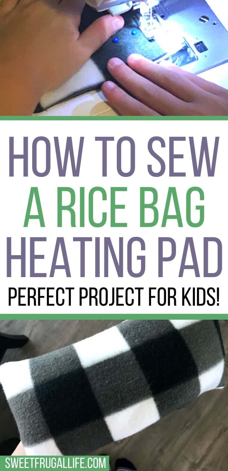 Easy sewing project for kids - rice bag heating pad diy