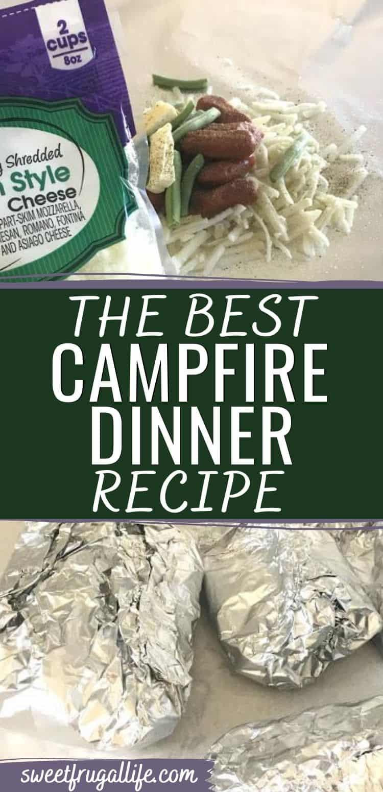 easy camping recipe - campfire dinner recipe